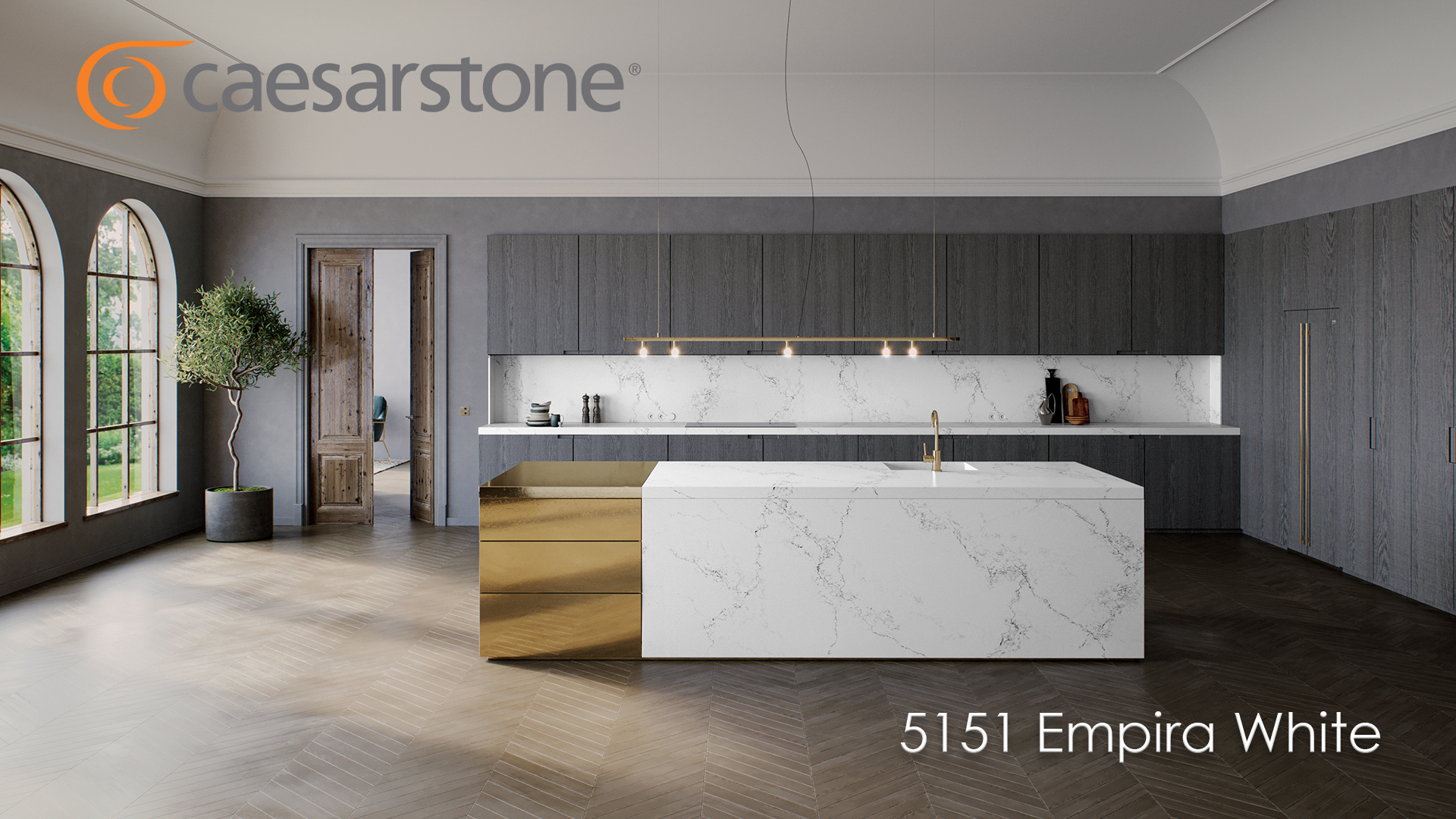 Caesarstone Quarzkomposit - Beispielbild - 5151 Empira White