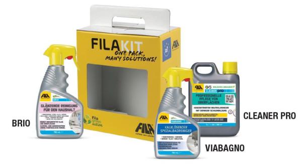 FILAKIT 2 Eine Auswahl von 3 Produkten FILABRIO, FALVIA BAGNO, FILACLEANER